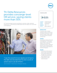 Tri-Delta Resources Disaster Recovery saves customers 50 percent